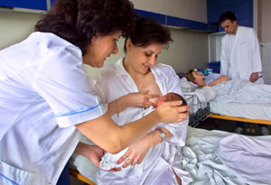 Szoptatás a kórházban