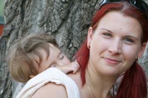 ...és a hordozás élmény alvás közben is. Fotó: Kálmán Melinda