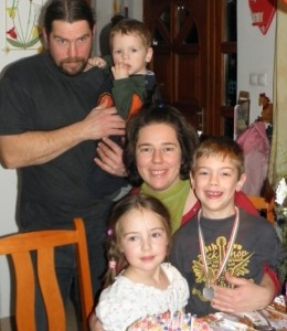 A család Julcsi 5. szülinapján