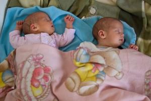 Emese és Réka baba természetes úton született