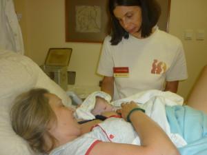Gabival és Zsiguval a Szent István Kórház szülőszobáján
