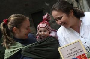 Tóthné Hasilló Annamária egri szülésznő az Év Bábája 2011-ben