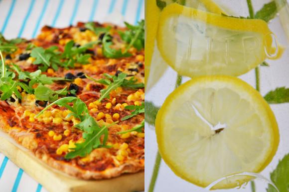 Pizza és limonádé