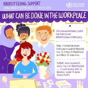 A szoptatás támogatása - munkahely, kollégák