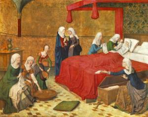 Johann van Duyren: Mária szülése