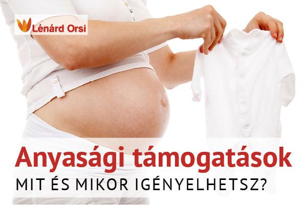 Anyasági támogatások