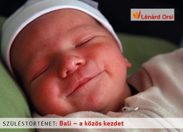 Bali - a közös kezdet, szüléstörténet
