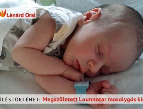 Megszületett Lounnotar mosolygós kisfia